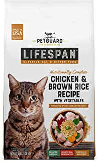 product image for PetGuard LifeSpan Chicken, Brown Rice Recipe with Vegetables, Superior Cat and Kitten Food Food