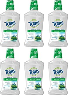 product image for Tom's of Maine Wicked Fresh! Mouthwash, Natural Mouthwash, Cool Mountain Mint, 16 Ounce, 6-Pack