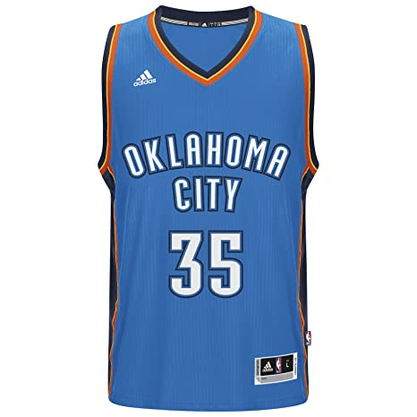 Adidas Kevin Durant Oklahoma City Thunder NBA Swingman Jersey Camiseta – Blue, Small