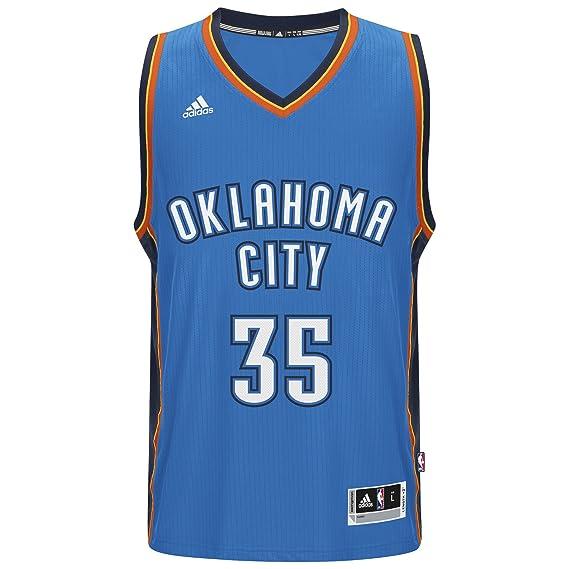 Adidas Kevin Durant Oklahoma City Thunder NBA Swingman Jersey Camiseta - Blue, Small: Amazon.es: Deportes y aire libre