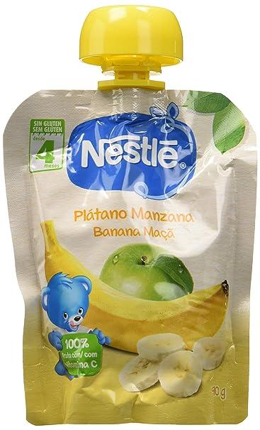 Nestlé Bolsita de puré de frutas, variedad Plátano y Manzana - Para bebés a partir