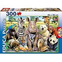 Educa Borrás-Foto de Clase Animales Salvajes Puzzles, Multicolor