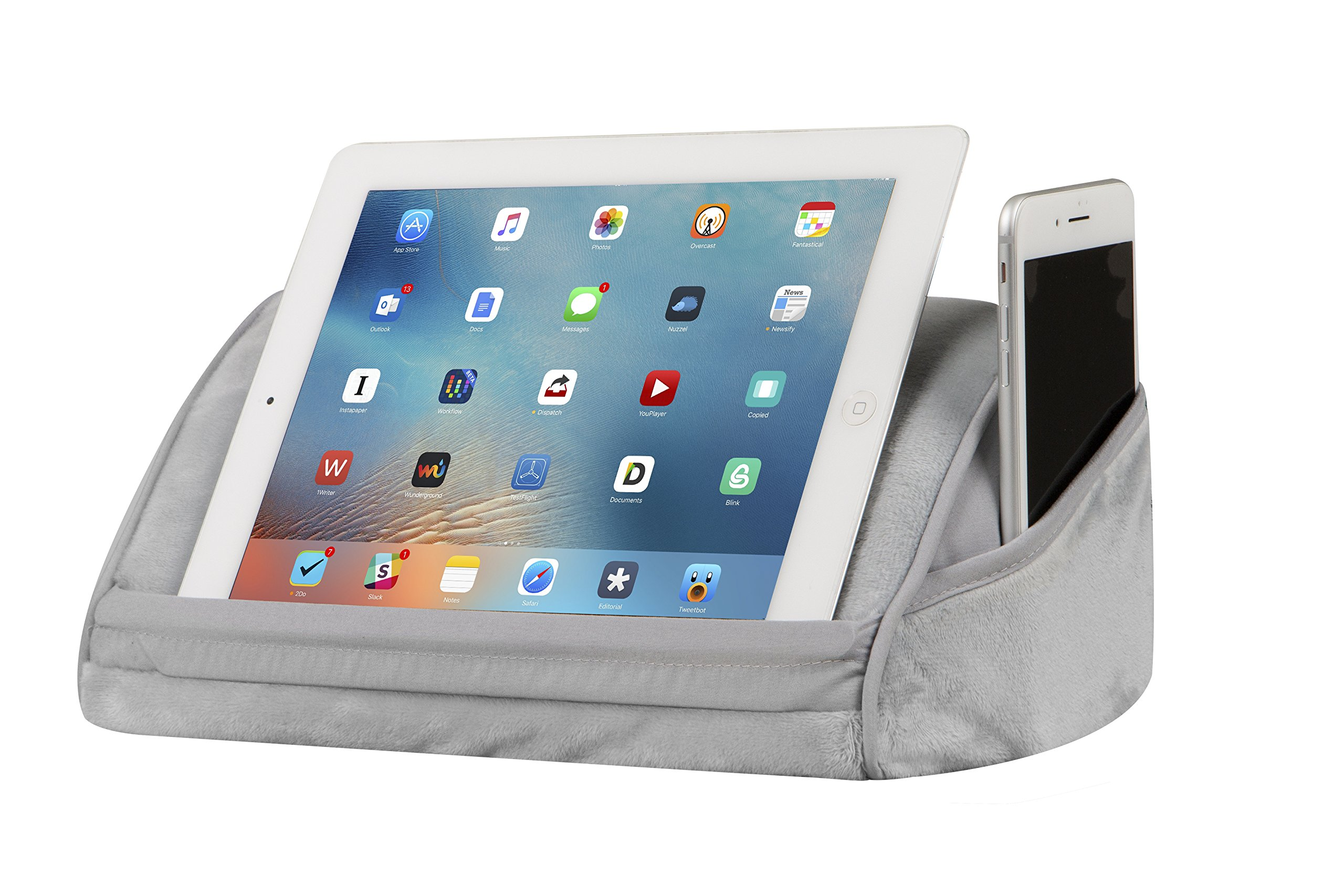 LapGear Original Tablet Pillow/Tablet Stand - Cool Gray (Fits up to 10.5'' Tablet)