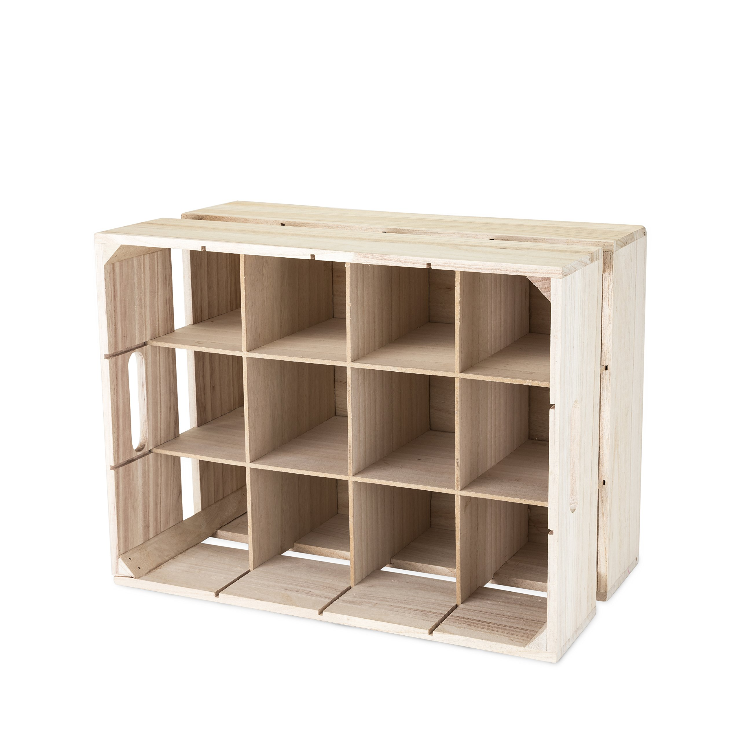 True Fabrication 5283 Wooden Crate Wine Rack, Multicolor