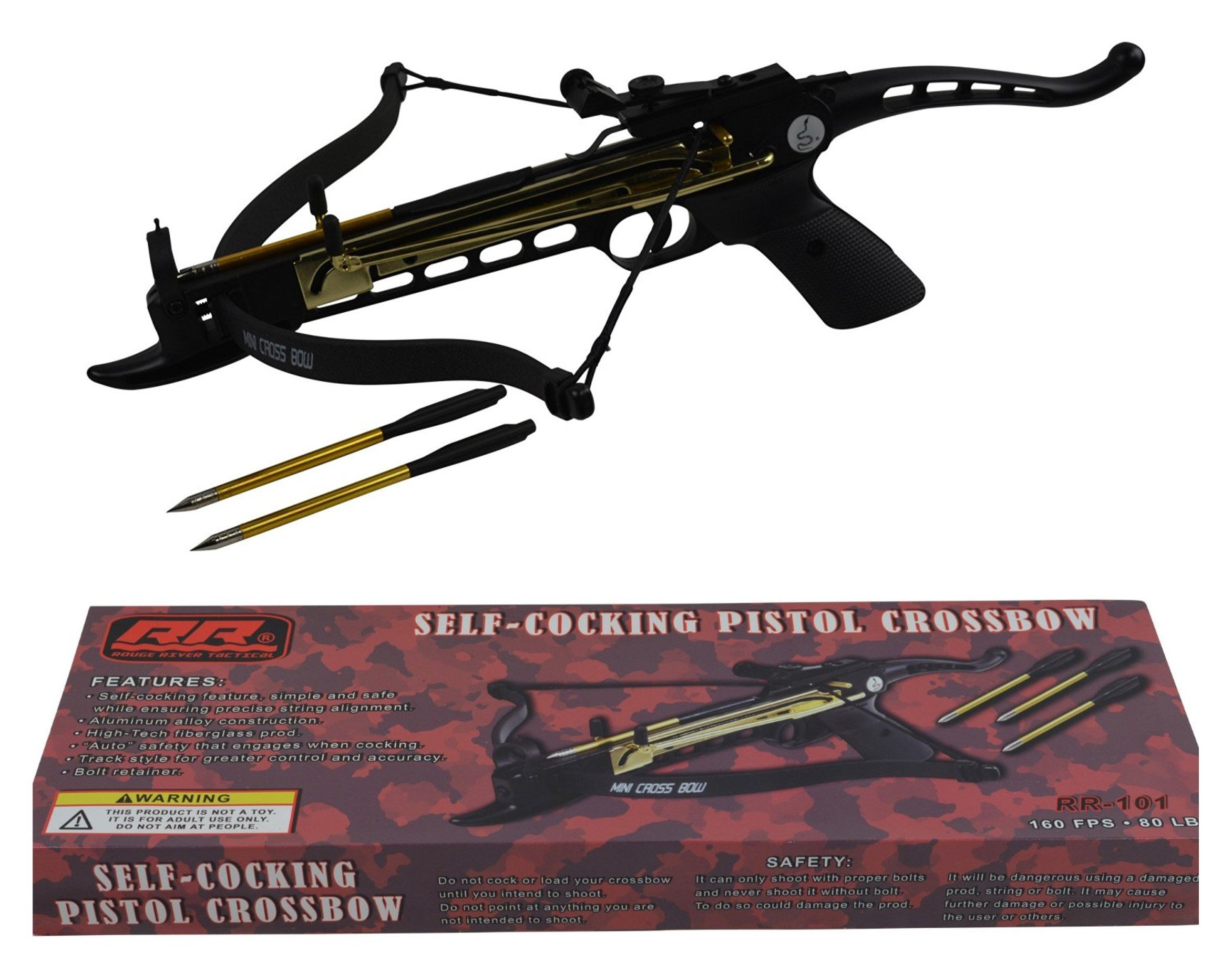 Galleon rogue river tactical 80lbs 80 pound pistol for Fishing crossbow pistol