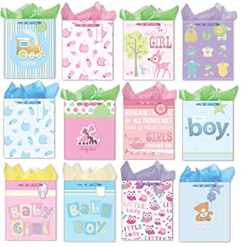 large gift bags for baby shower set of 12 paper gift bags with handles packing