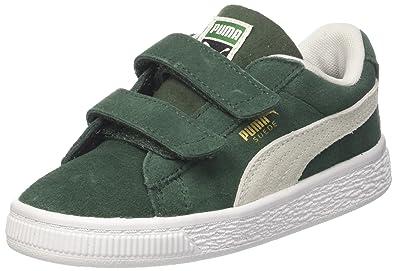84361c0fc58f Puma Suede Classic V Inf, Sneakers Basses Mixte Enfant, Vert (Pineneedle  White)