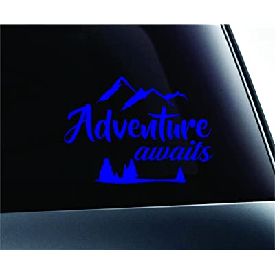 ExpressDecor Adventure Awaits Arrows Journey Nature Life Computer Laptop Symbol Decal Family Love Car Truck Sticker Window (Blue): Automotive
