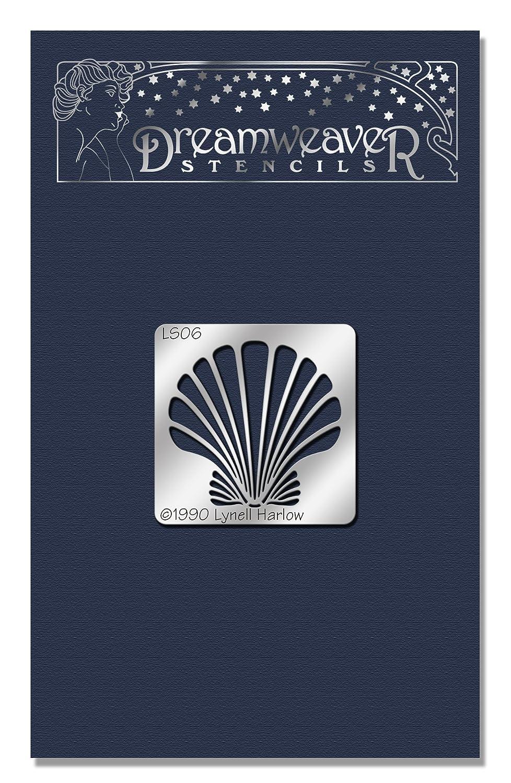 STAMPENDOUS DWLS06 Dreamweaver Stencil Small Scallop Shell