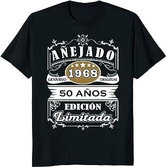 Camiseta Cumpleanos 50 TShirt 1968 50 Anos Original Anejado