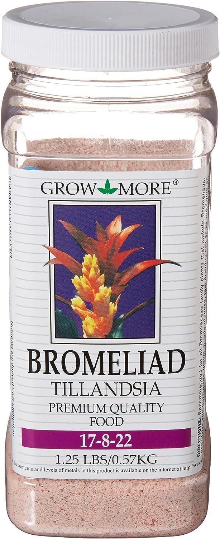 Grow More 5118 Bromeliad Tillandsia Food 17-8-22, 1.25-Pound