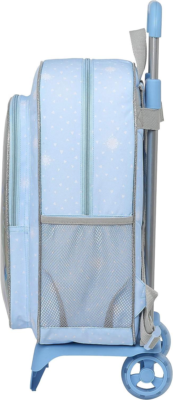 Safta Mochila Escolar Grande con Carro de Frozen II True at Heart, 330x150x420mm, Azul Claro: Amazon.es: Ropa y accesorios