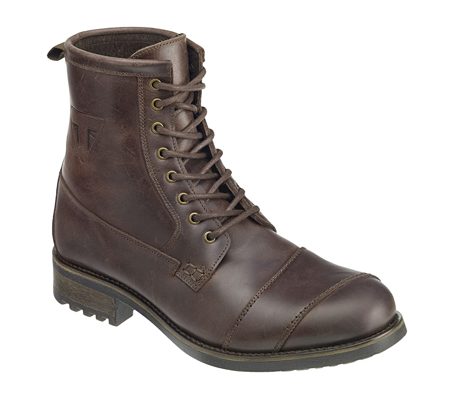 e67daabf9f0 Triumph Motorcycles Classic Boot Brown (45): Amazon.co.uk: Shoes & Bags