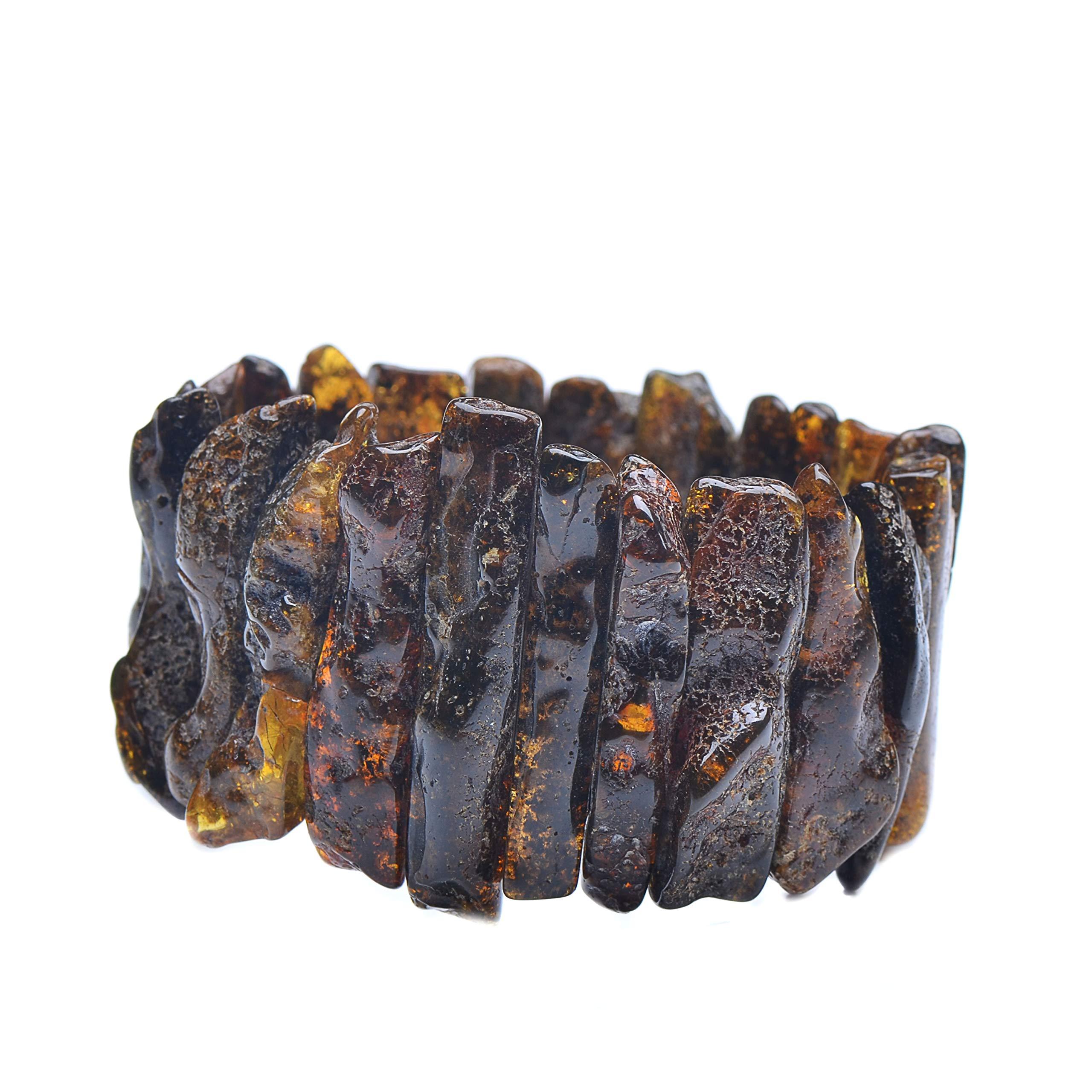 Massive Amber Bracelet - Unique Amber Bracelet - Exclusive Amber Bracelet - Amber Bracelet by Genuine Amber (Image #3)