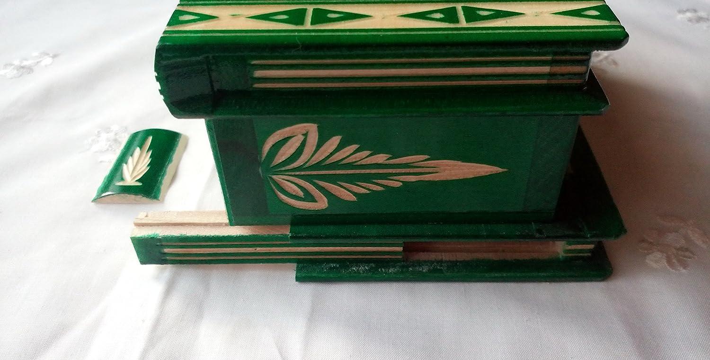 Nuova bella magia di legno misteriosa scatola segreta mano difficile scatola intagliata Rosso