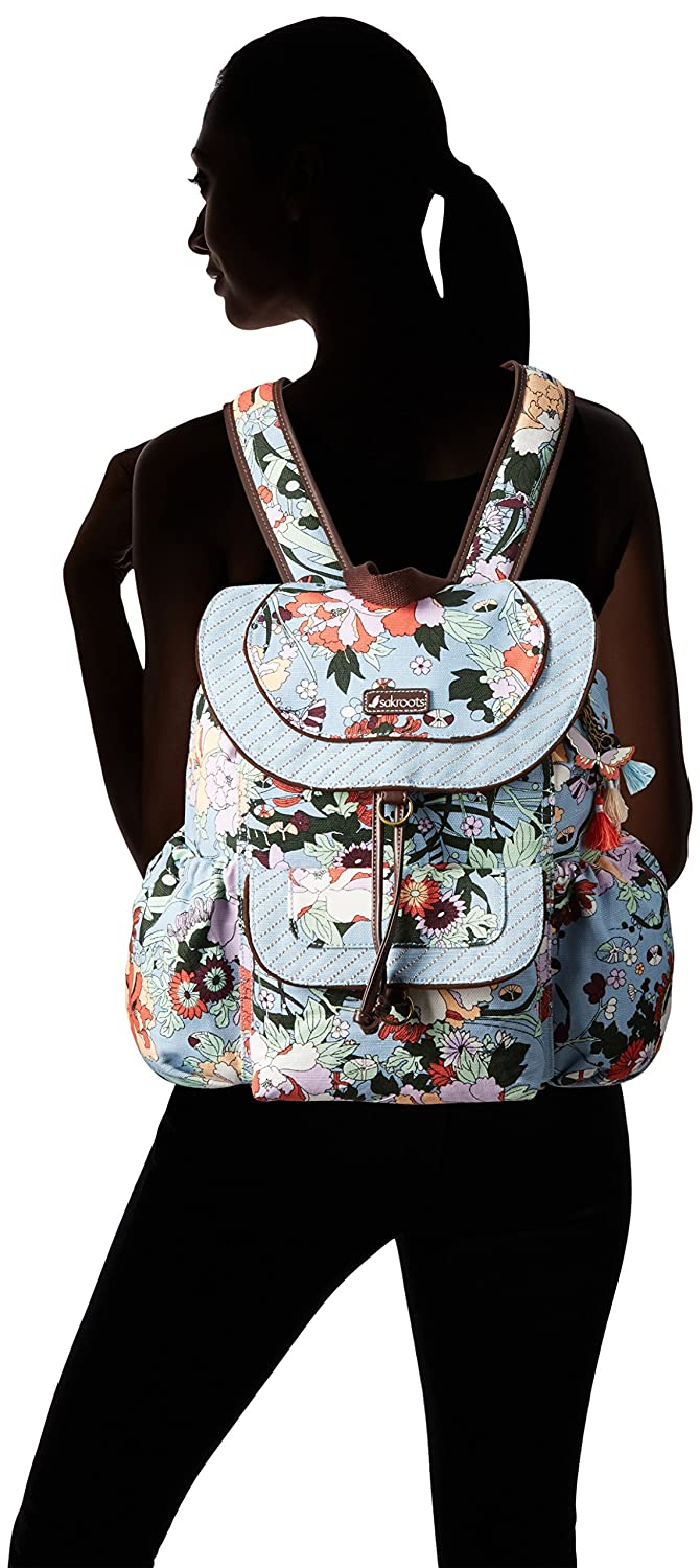 Sakroots Womens Artist Circle Flap Backpack Sand One World One Size 105804