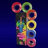 6 Pack, 6 Colors, Fluorescent UV Blacklight