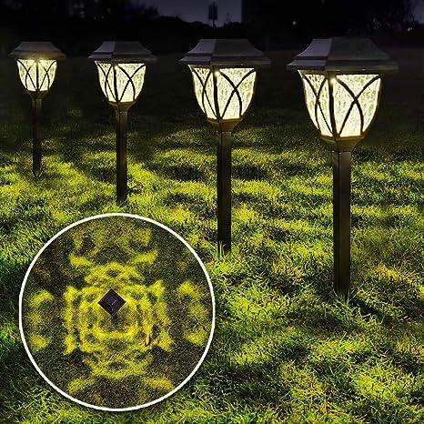 Waterproof Solar Pathway Lights Outdoor Garden Lamp Landscape Lawn Walkway Yard