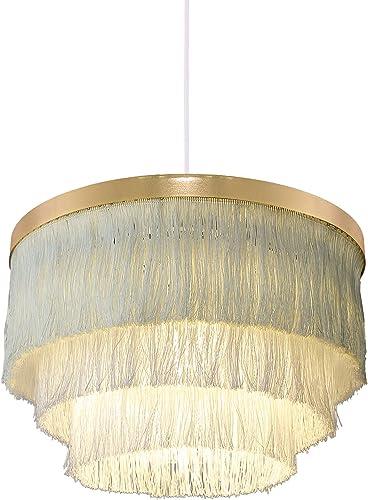 Saimmaa Romantic Tassel Pendant Lighting Chandeliers Creative Light Modern Ceiling Chandelier in White