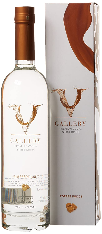 V Gallery Premium Toffee Fudge Flavoured Vodka Spirit Drink, 50 cl ...