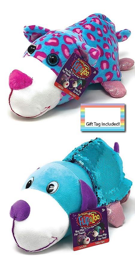 Amazon.com: FlipaZoo Flipquins Peluche juguetes, Animales ...