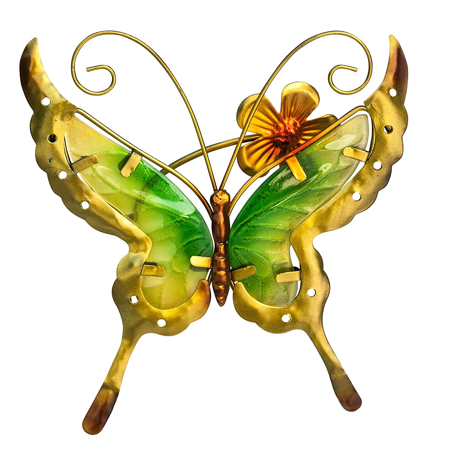 Amazon.com : Butterfly Wind Chime - Hanging Glass Windchime is the ...
