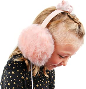 DURAGADGET Pink Fluffy Headphones w/ 3.5mm Connector - Compatible with Acer Iconia Talk S A1-724 | Iconia Talk S | Liquid Jade Z | Liquid M220 | Liquid Z220Z | Liquid Z320 | Liquid Z330