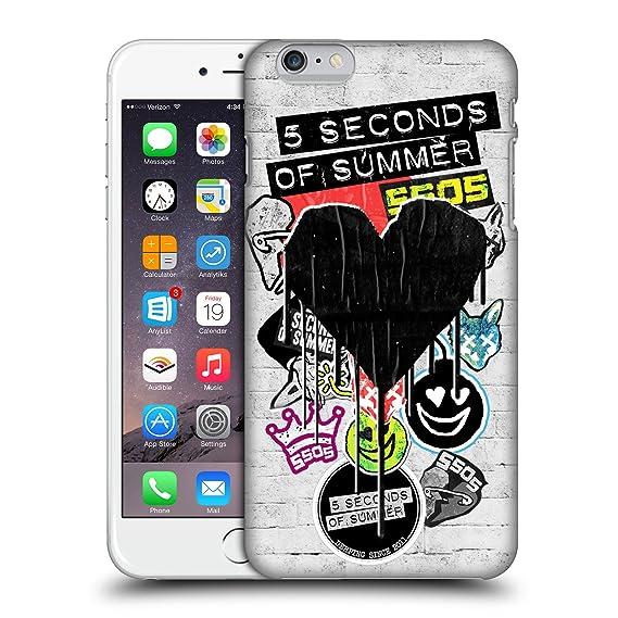 super popular 793d6 8db9c Amazon.com: Official 5 Seconds of Summer Blackheart Sticker Bomb ...