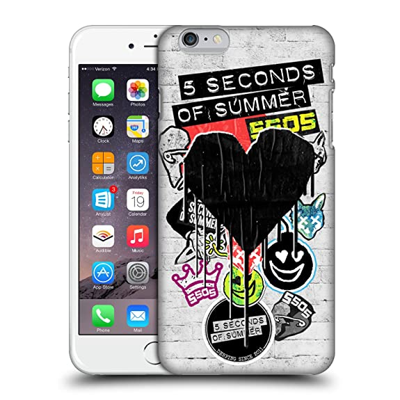 Official 5 Seconds Of Summer Blackheart Sticker Bomb Hard Back Case For Apple IPhone 6 Plus