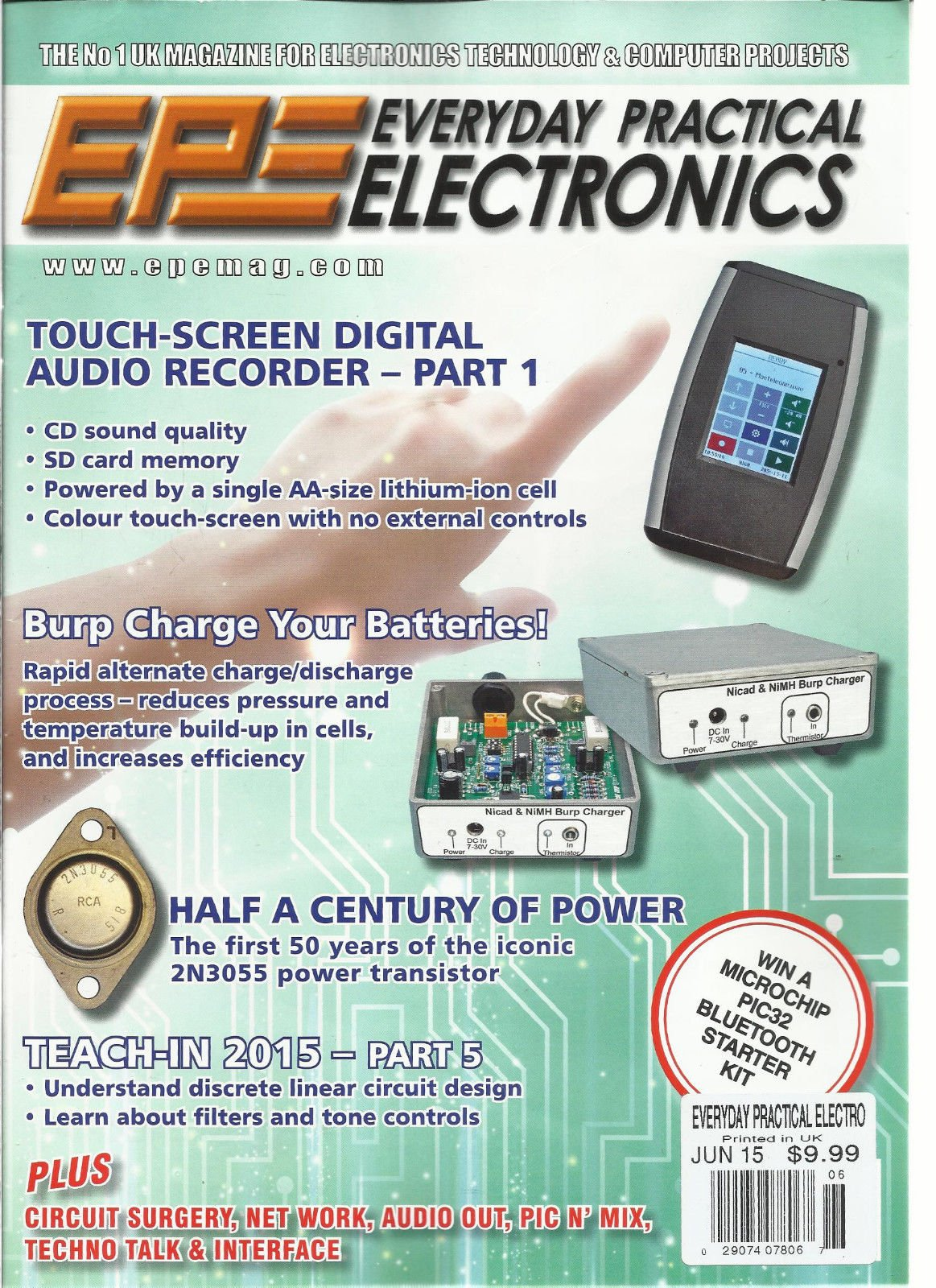 EPE EVERYDAY PRACTICAL ELECTRONICS, JUNE, 2015 (BURO CHARGE YOUR BATTERIES