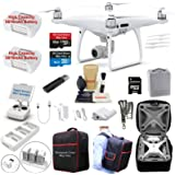 DJI Phantom 4 PRO Drone Quadcopter Bundle Kit W/ 2 Batteries, 4K Professional Gimbal Camera and MUST HAVE Accessories