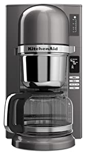 KitchenAid KCM0802MS Pour Over Coffee Brewer, Medallion Silver