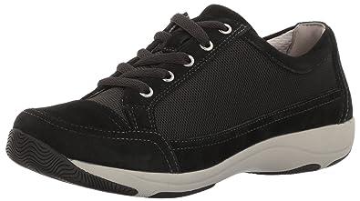 Dansko Women's Harmony Fashion Sneaker, Black Suede, 36 EU/5.5-6 M