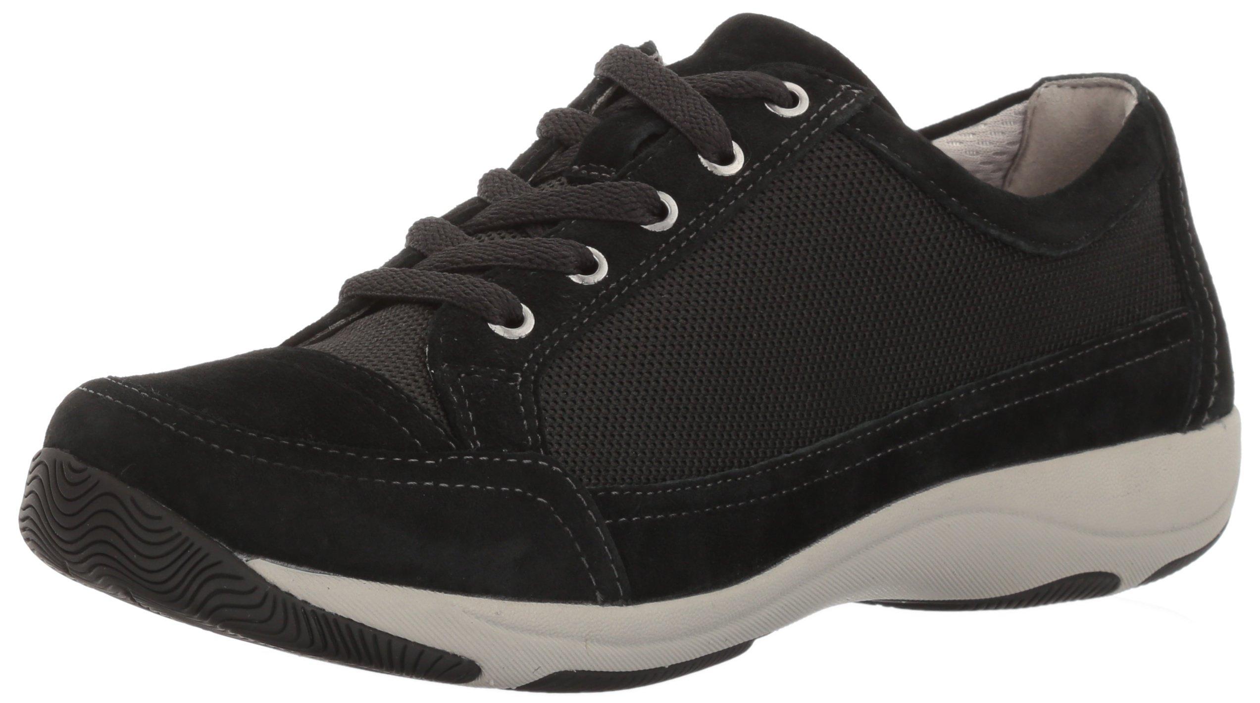 Dansko Women's Harmony Fashion Sneaker, Black Suede, 41 EU/10.5-11 M US