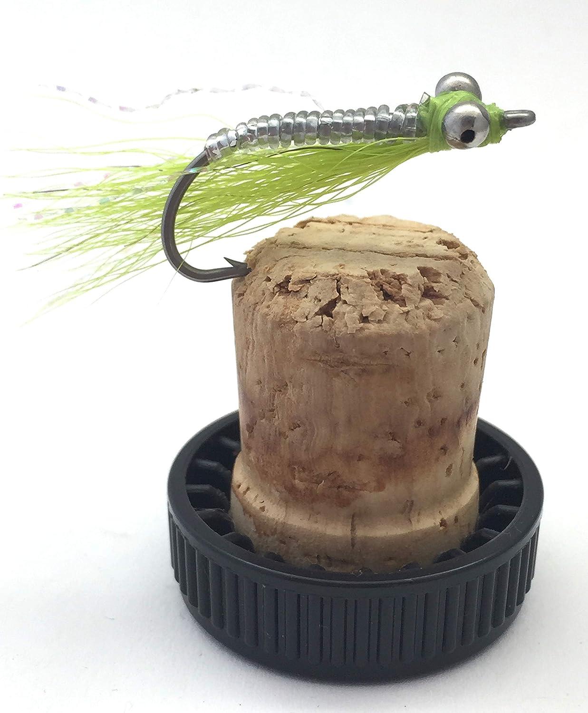 BestCity Fliegenfischen Chartreuse Crazy Charlie Gr/ö/ße 4-6 Pack 6 St/ück Salzwasserfliegen