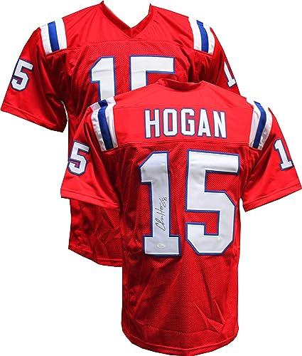 Chris Hogan Autographed Signed Custom Red Jersey JSA Hologram 91c28a2d9