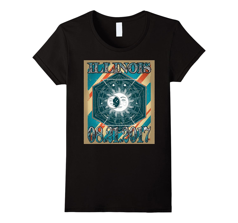Illinois 21 August 2017 Eclipse T-Shirt Vintage Illinois Gr