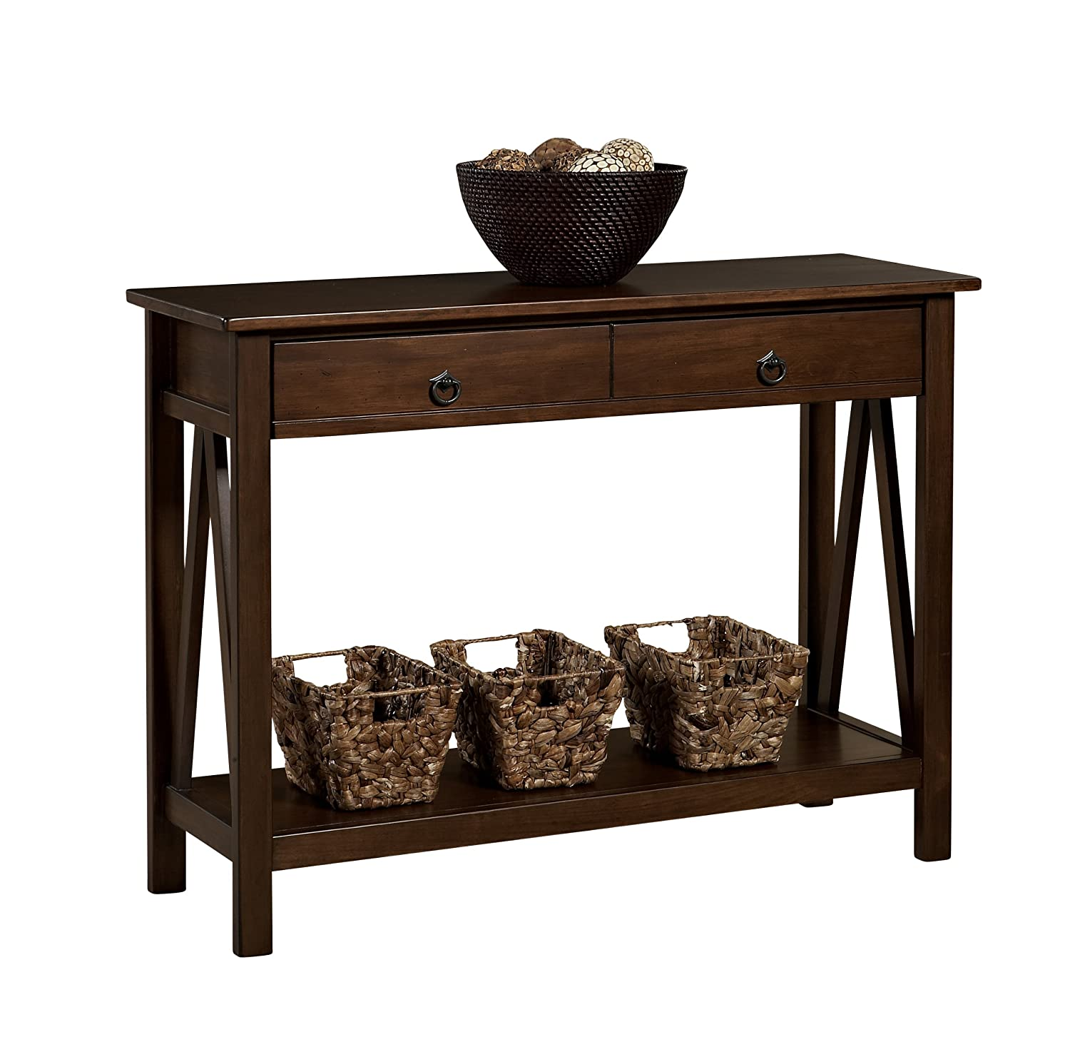 Amazon Linon Home Decor Titian Antique Console Table Kitchen