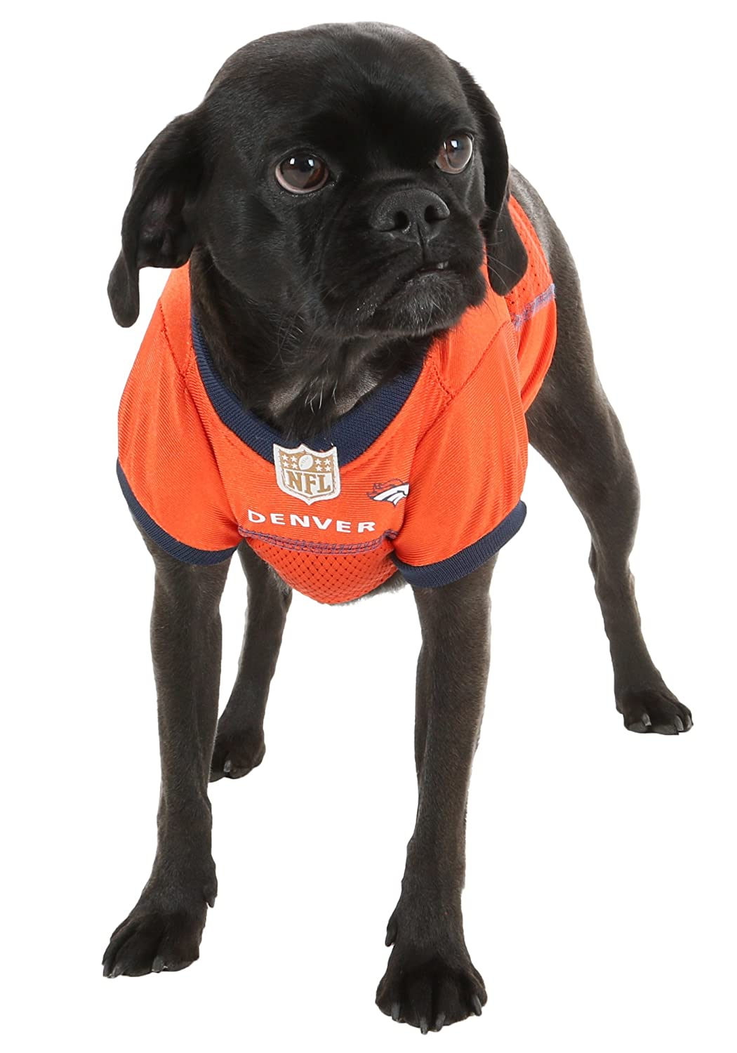 Denver Broncos Dog Mesh Jersey (X-Large)