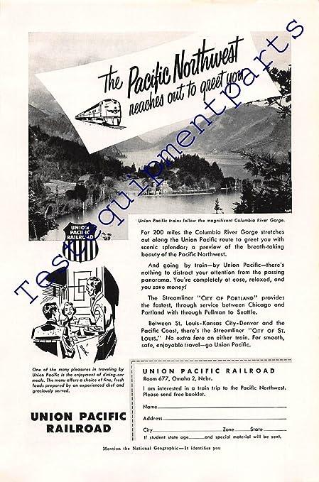 Amazon com: Print Ad 1953 Union Pacific Rail Road | The