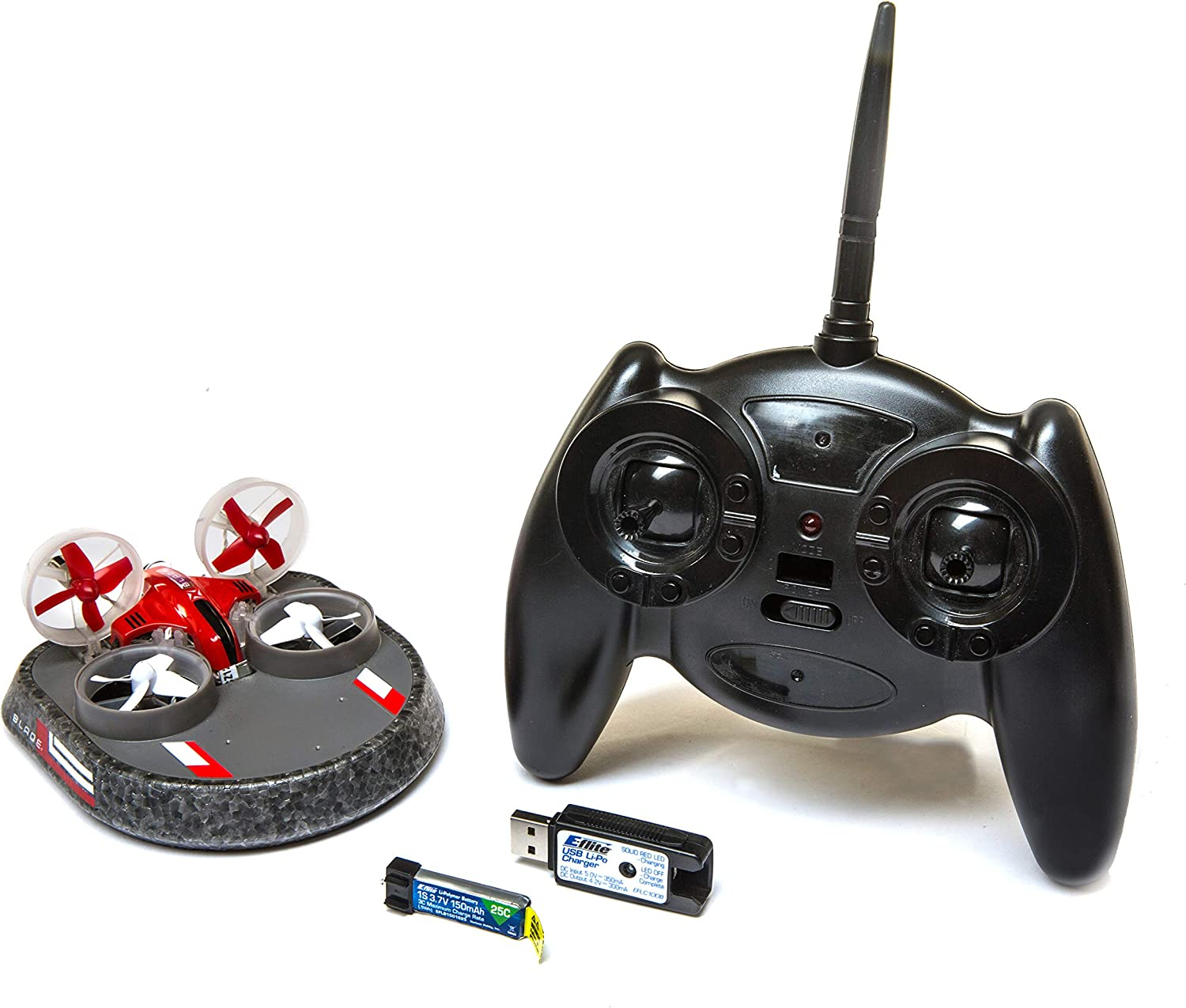 Blade Inductrix Switch RTF 2-in-1 Micro Drone//Hovercraft RC Vehicle with LED and Safe Technology