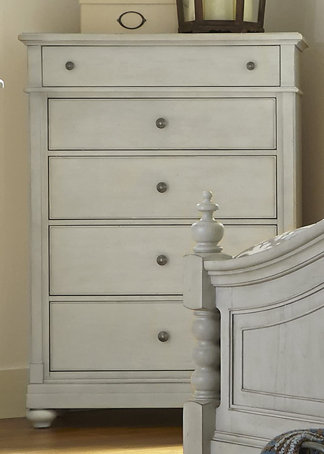 Liberty Furniture Industries Harbor View III Bedroom 5-Drawer Chest, 40 x 19 x 56 , Dove Gray Finish