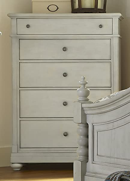 Liberty Furniture Harbor View III Bedroom 5 Drawer Chest, Dove Gray Finish