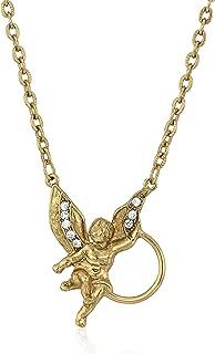 product image for 1928 Jewelry Womens Gold-Tone Angel Crystal Eyeglass/Badge Holder Pendant Enhancer, 28