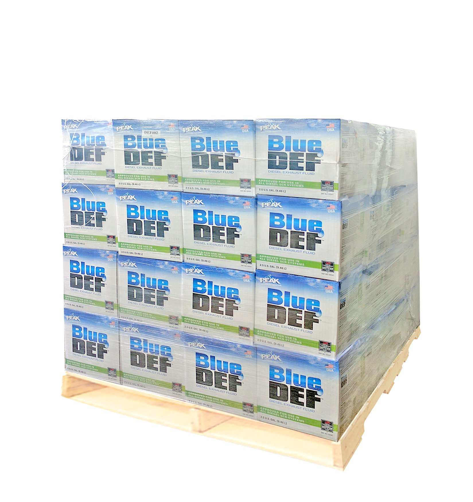 (Pack of 40) BlueDEF DEF002 Diesel Exhaust Fluid - 2.5 Gallon Jug by Peak