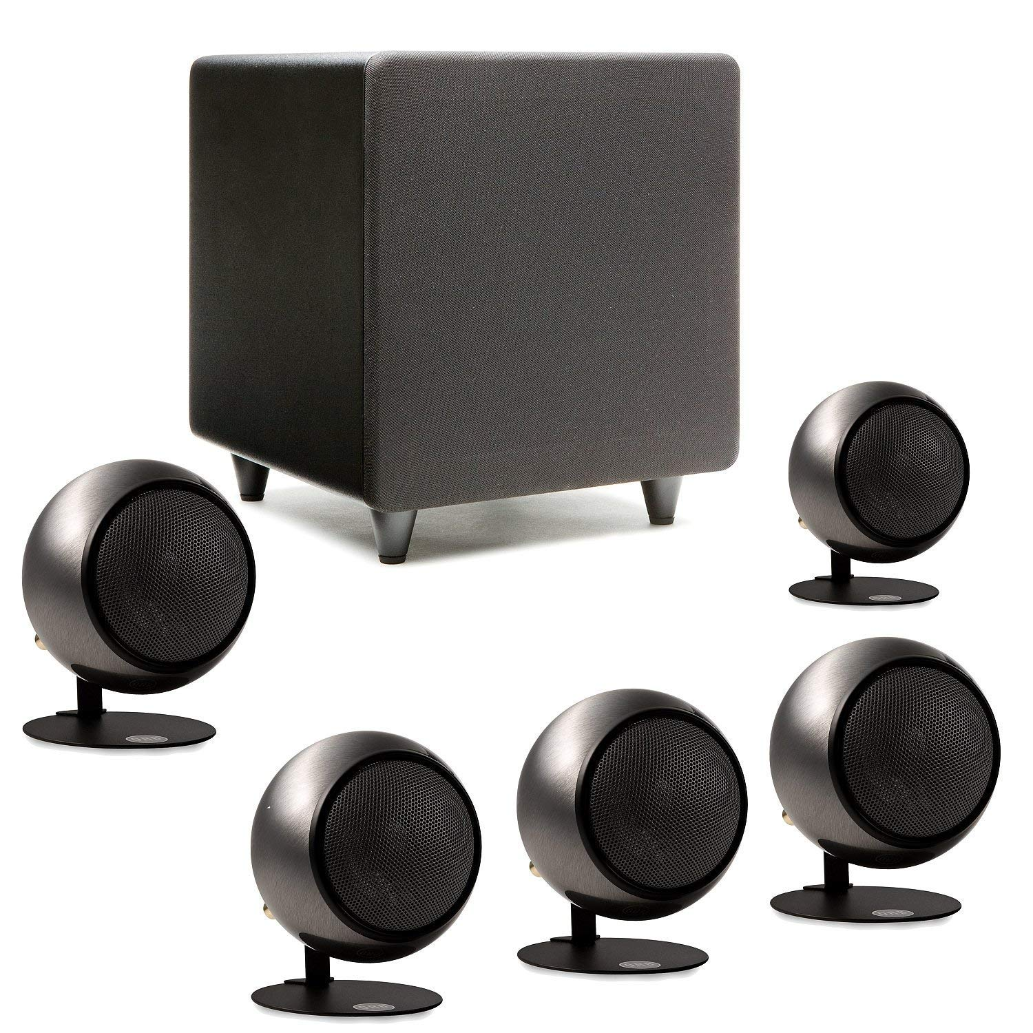 Orb Audio Mini 5.1 Home Theater Speaker System (Polished Steel)