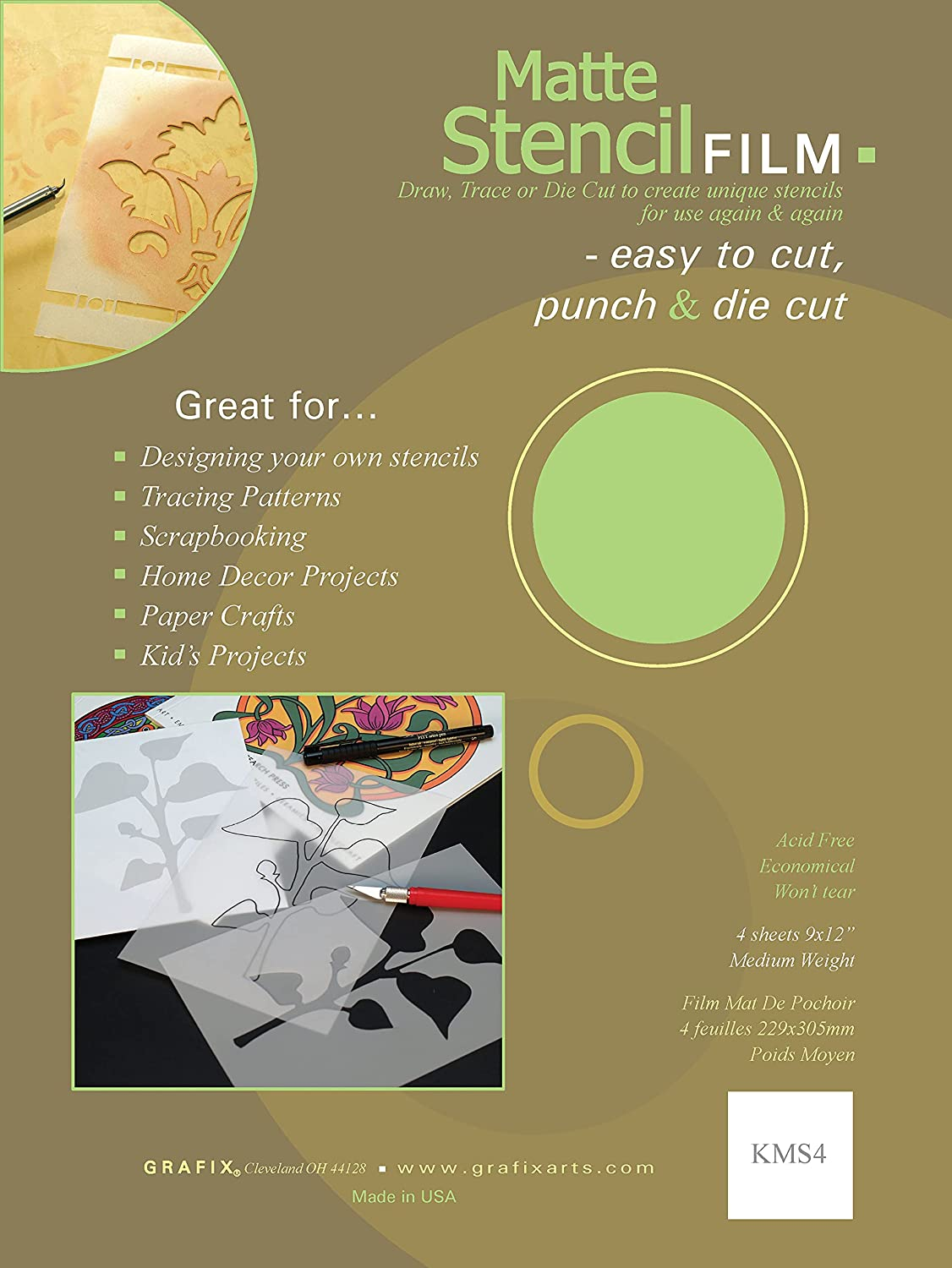 Grafix 9-Inch-by-12-Inch Stencil Matte; Film 4-Pack Our shop OFFers the best Popular popular service