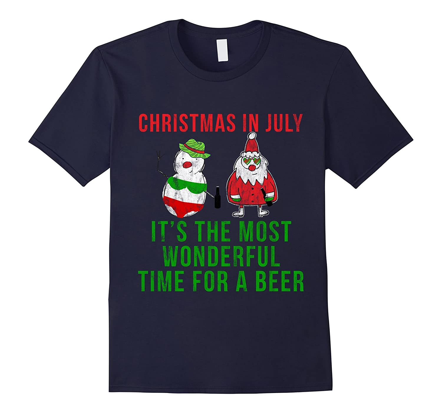 Xmas in July It's the Most Wonderful Time for a Beer Shirt-TH