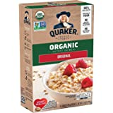 Quaker Instant Oatmeal, USDA Organic, Non-GMO Project Verified, Original, Individual Packets, 8/box- pack of 6 boxes, total 4
