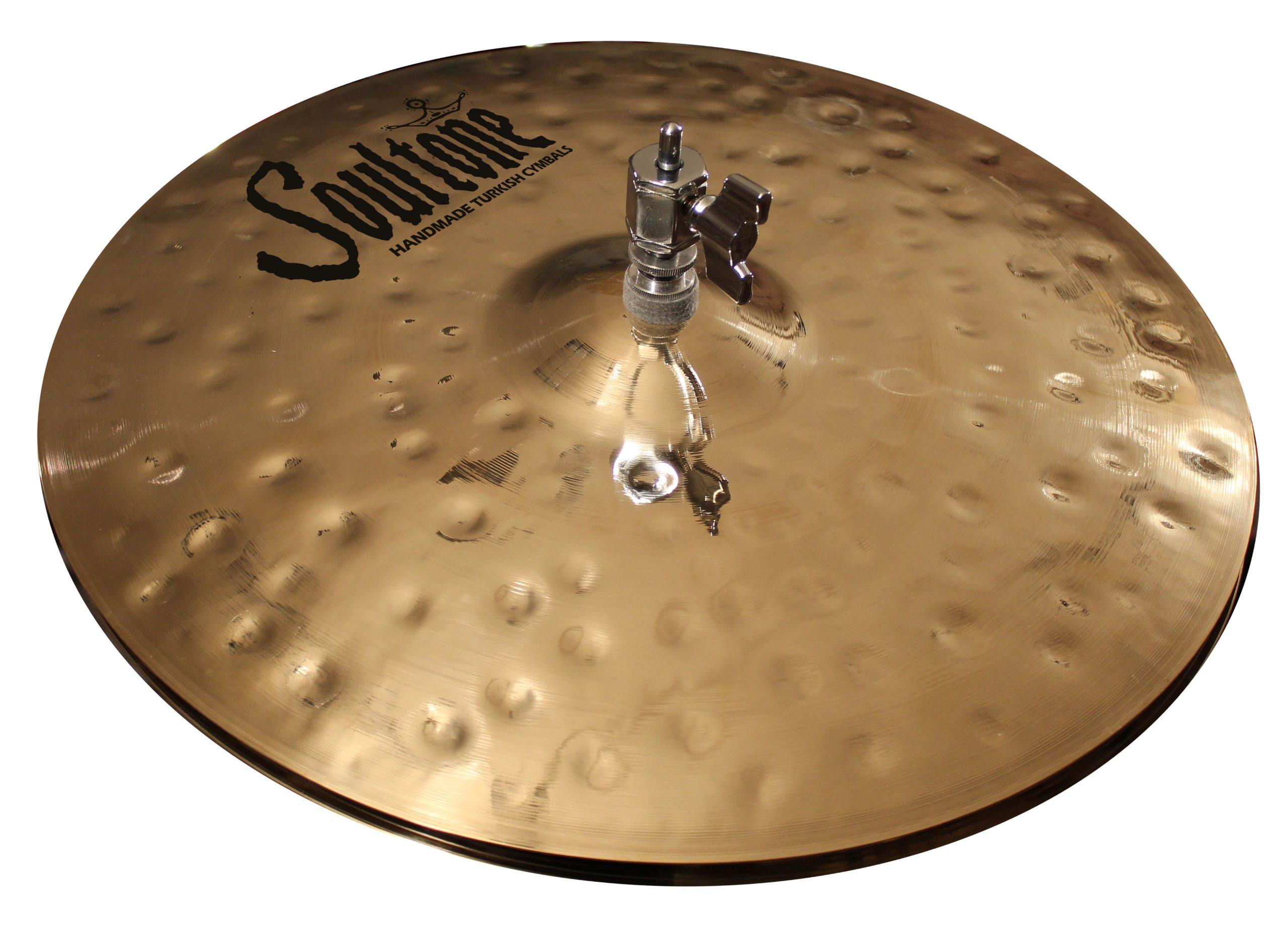 Soultone Cymbals HVHMR-HHTT14-14'' Heavy Hammered Hi Hat Top Only